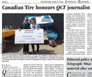 Canadian Tire honours QCT journalist_QCT (06.04.2014)_2