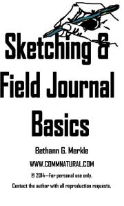 Cover of guide: Sketching & Field Journal Basics