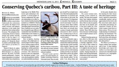 Conserving Quebec caribou_III