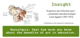 Screenshot of quote and quiz link from this month's newsletter