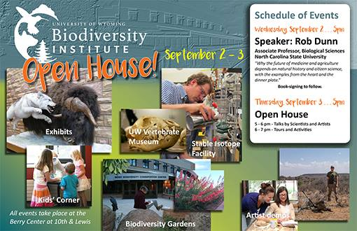 Biodiversity Institute open house_poster