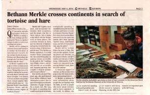 """Media coverage of my on-going project """"The Ecologically True Story of the Tortoise and the Hare"""""""